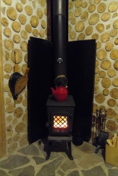 Jøtul cast iron woodstove from Norway: traditional look, modern efficiency.
