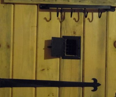 Detail of door speakeasy: Hark, who goes there?!