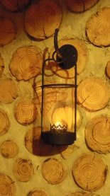 Several lanterns and beeswax candles supplied.