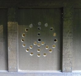"Privy vent holes: ""Pee for Peace"""